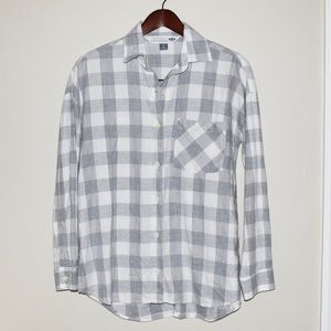 Old Navy Women's Plaid Flannel Boyfriend Shirt